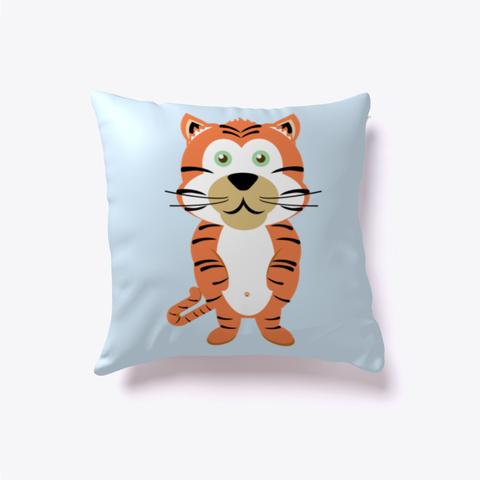 Thomas Tiger Pillow Pale Blue T-Shirt Front