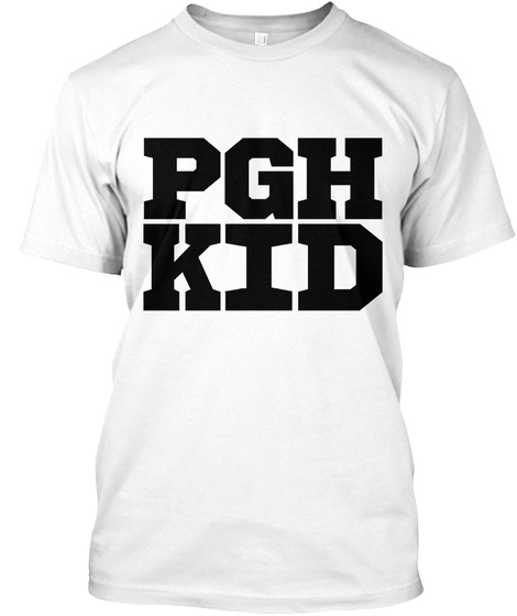 Pgh Kid White T-Shirt Front
