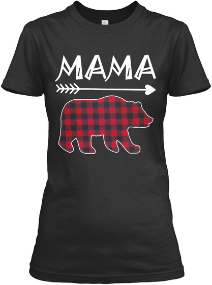 Mama Black T-Shirt Front