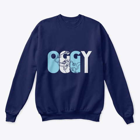 Pick Your Team   Oggy Navy  T-Shirt Front