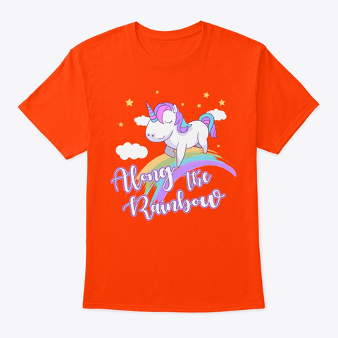 Alone The Rainbow! Orange T-Shirt Front