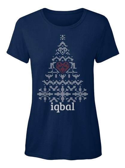 Iqbal Navy Women's T-Shirt Front