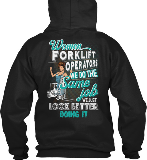 Awesome Forklift Operator Shirt Black T-Shirt Back