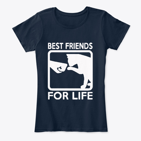 Best Friend For Life New Navy T-Shirt Front