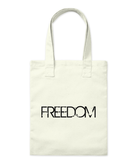 Freedom Natural T-Shirt Front