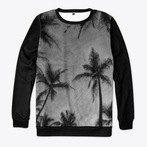 🌛Palm Trees Black T-Shirt Front