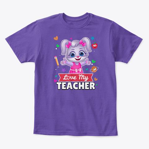 Ruby Loves Her Teacher Purple  T-Shirt Front