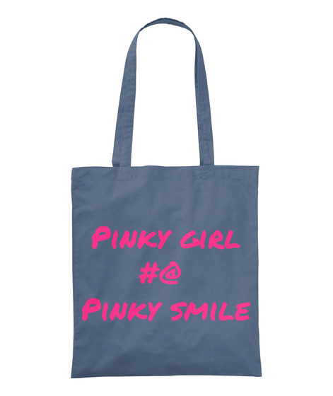 Pinky Girl          #@ Pinky Smile Graphite Tote Bag Front