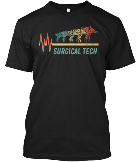 Awesome Surgical Tech Black T-Shirt Front