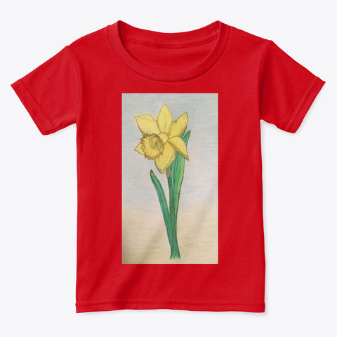 'classic Daffodil' Artwork   Happiness! Red  T-Shirt Front