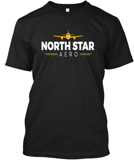 North Star Black T-Shirt Front