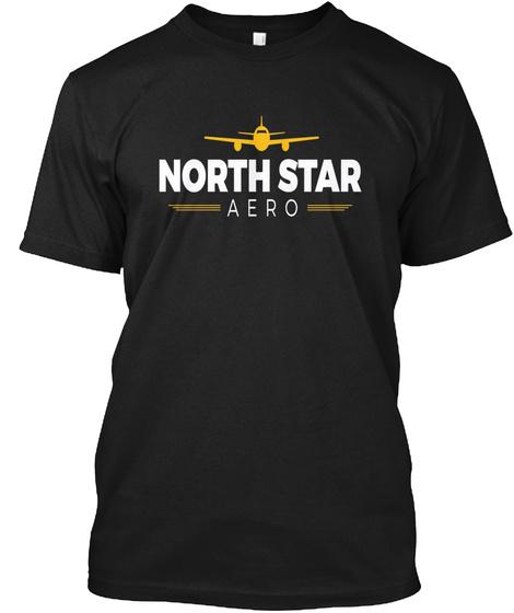 North Star Black T-Shirt Front