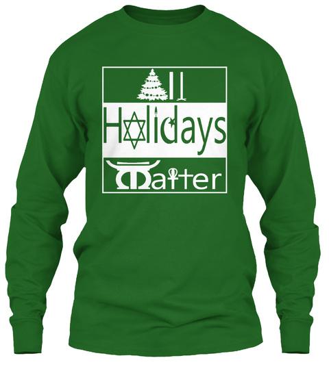 Holidays Maiter Irish Green Long Sleeve T-Shirt Front