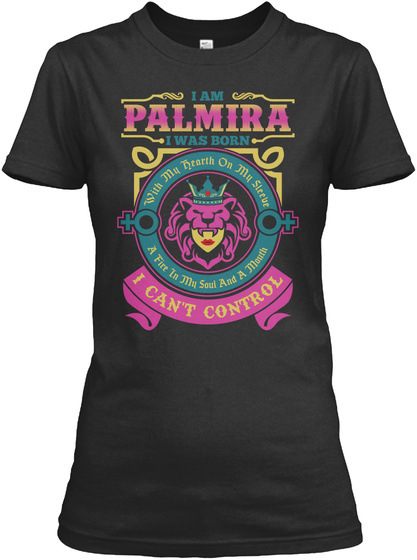I Can't Control   Im Palmira  Black T-Shirt Front