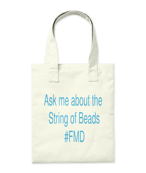 Ask Me About The String Of Beads #Fmd Natural Tote Bag Back