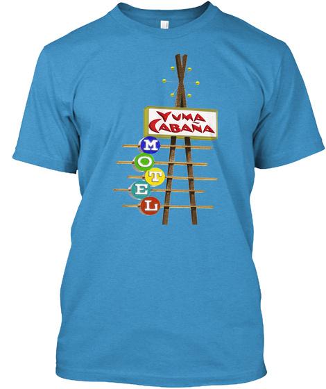Yuma Cabana Heathered Bright Turquoise  T-Shirt Front