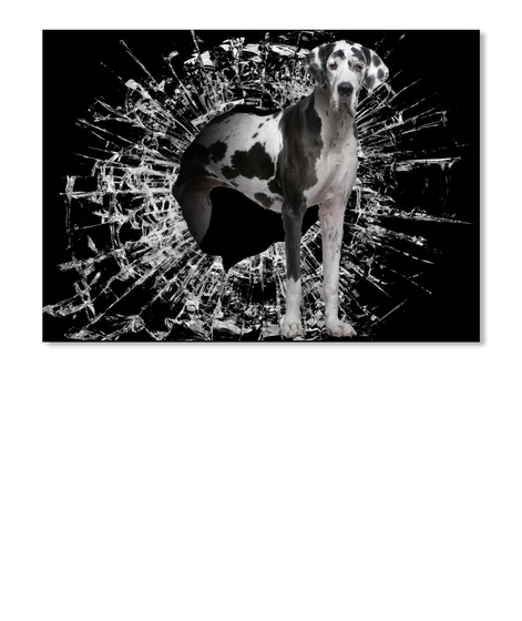 Great Dane Dog 3 D New Car Sticker Black T-Shirt Front