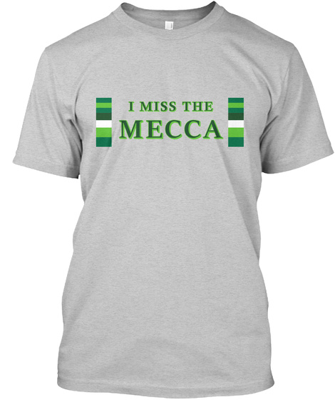 Naming Wrongs: Mecca (Grey) Light Steel T-Shirt Front