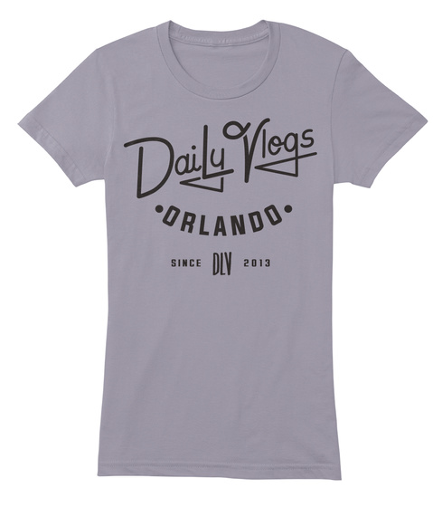 Daily Vlogs Orlando Since Dlv 2013 Slate T-Shirt Front