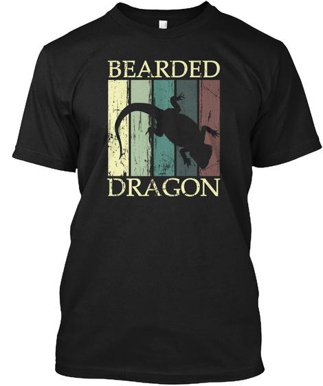Bearded Dragon Black T-Shirt Front