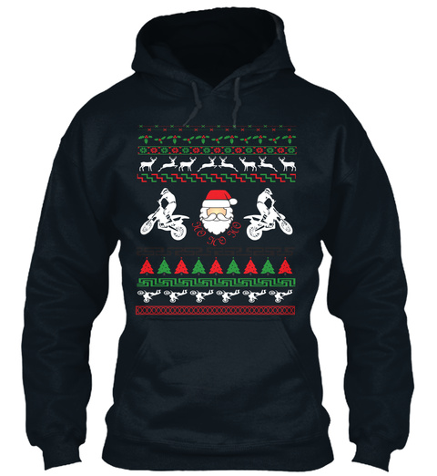 Christmas Hoodies Happy New Year 2018 French Navy T-Shirt Front
