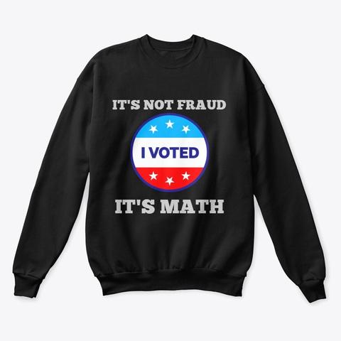 It's Math Black T-Shirt Front