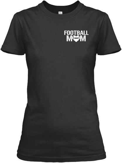Football Mom Black Women's T-Shirt Front