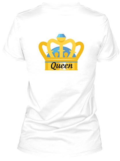 Queen White T-Shirt Back
