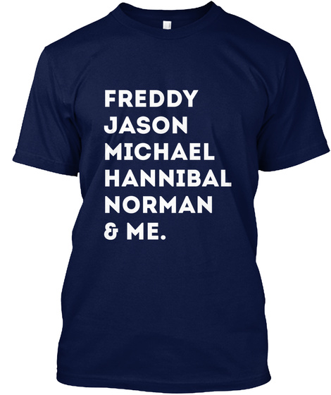 Freddy Jason Michael Hannibal Norman Navy T-Shirt Front
