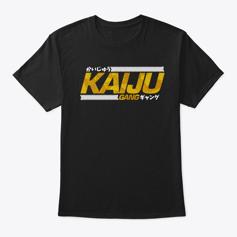Kaiju Gang Black T-Shirt Front