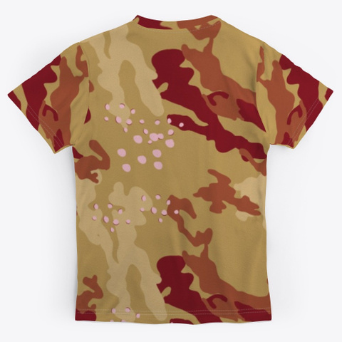 Grill Master Military Camouflage Pattern Standard Kaos Back