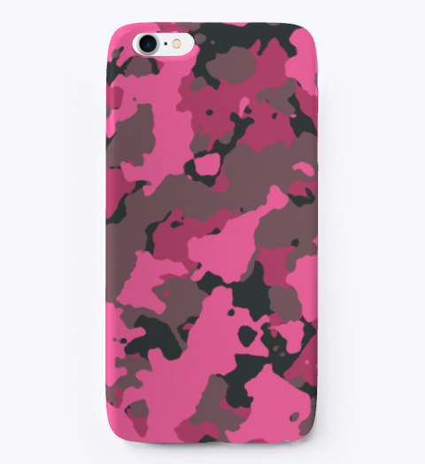 Pink Camo I Phone Case White T-Shirt Front