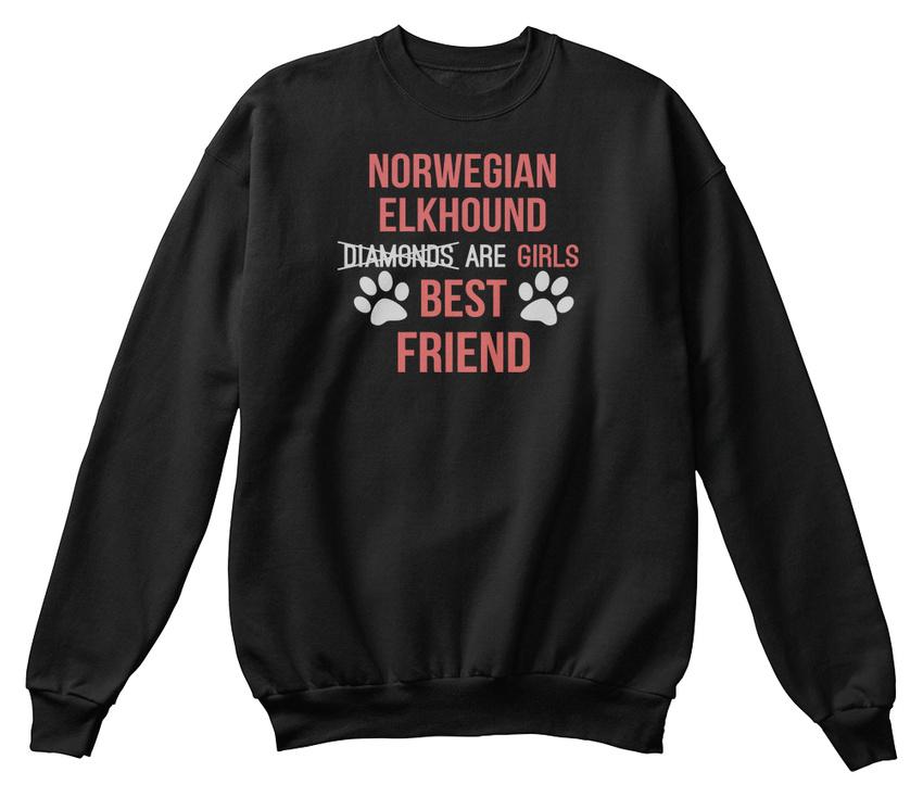 19415e0ba6b9 Norwegian Elkhound Girl Best Friend Clot Hanes Unisex Crewneck ...