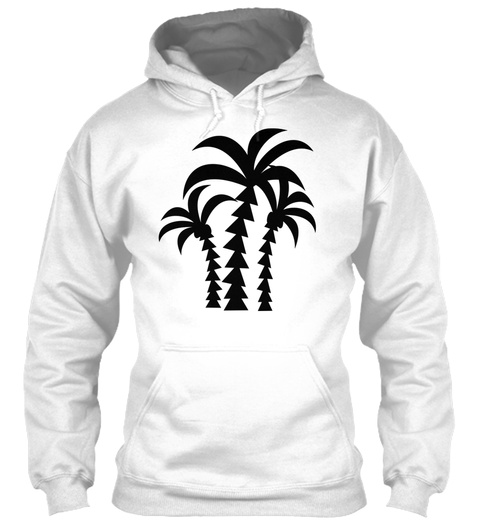 Palms White T-Shirt Front