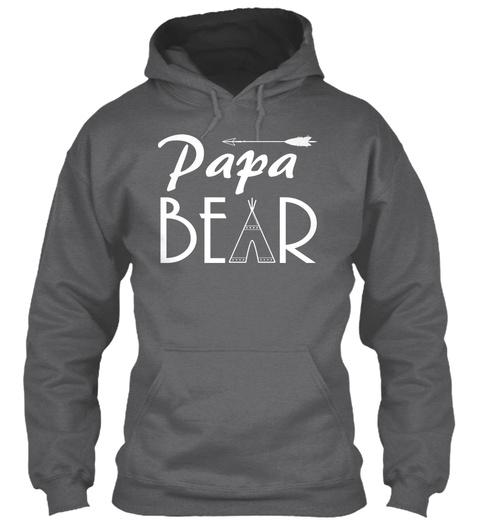 Papa Bear Dark Heather T-Shirt Front