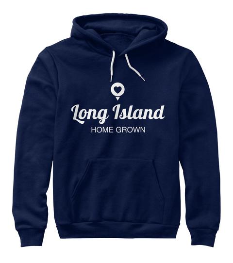 Long Island Home Grown Navy T-Shirt Front