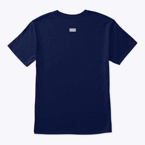 Abstract Art Print Design Navy T-Shirt Back