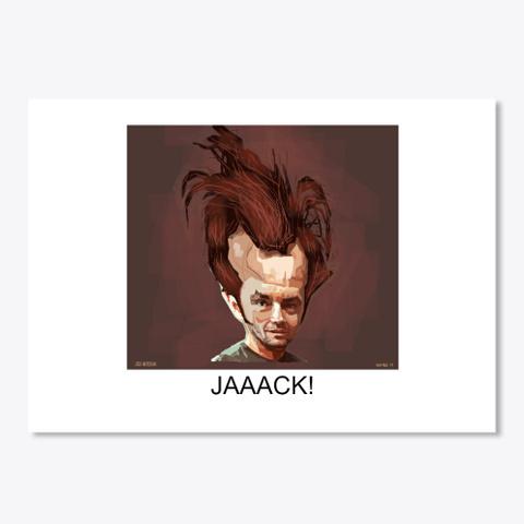 Jack Nicholson Sticker White T-Shirt Front