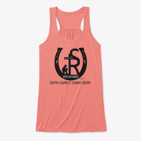 Sixth Day Ranch Gear Coral T-Shirt Front