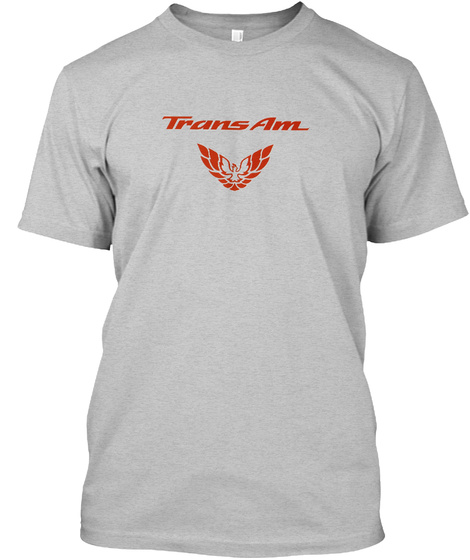 Trans Am Owners Gear Light Heather Grey  T-Shirt Front