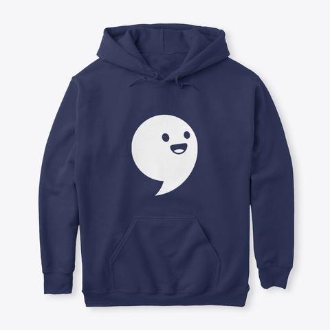 Commaful Dark Hoodies Navy T-Shirt Front