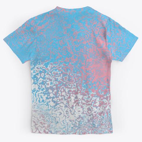 Transgender Pride Abstract Ripples Standard T-Shirt Back