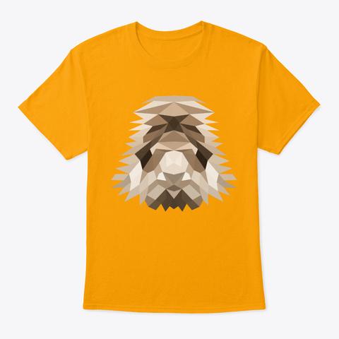 Lion Artful Gold T-Shirt Front