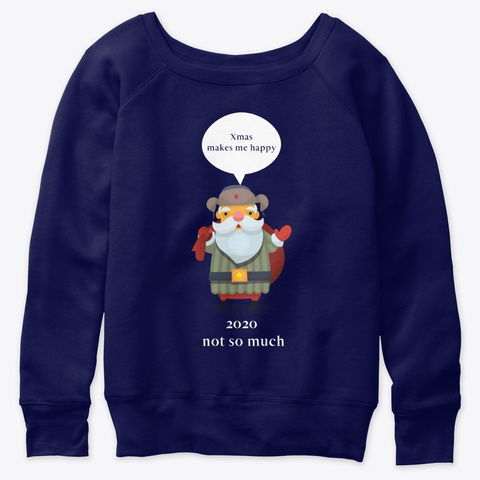 Xmas Makes Me Happy For People Who Like  Navy  T-Shirt Front