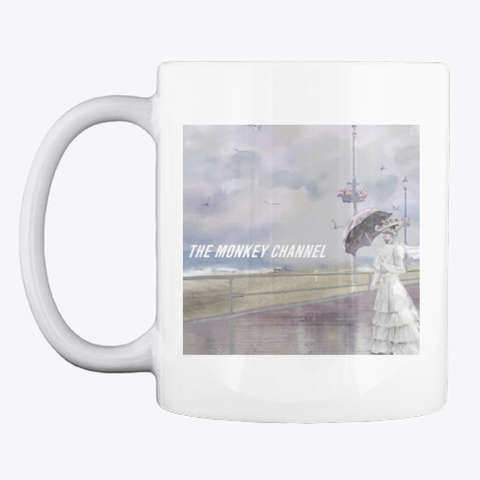 The Monkey Channel Mug White T-Shirt Front