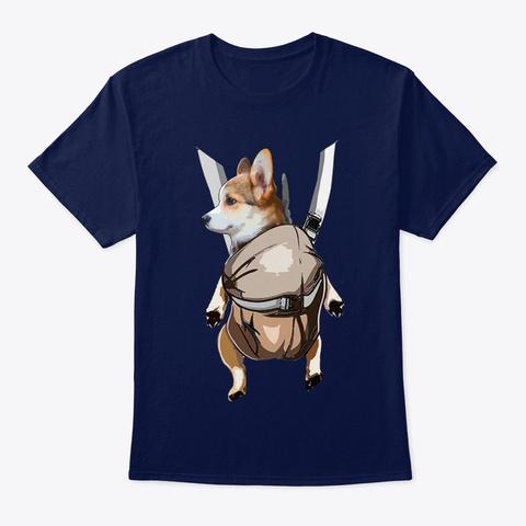 Dog Shirt Navy T-Shirt Front