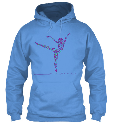 Hoodie Ballet Pointe Arabesque Dancer Carolina Blue Kaos Front