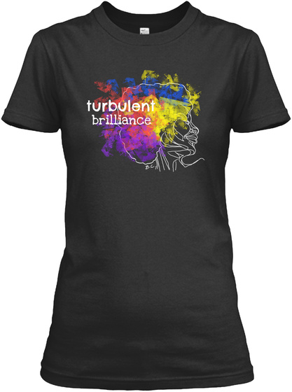 Turbulent Brilliance Black T-Shirt Front