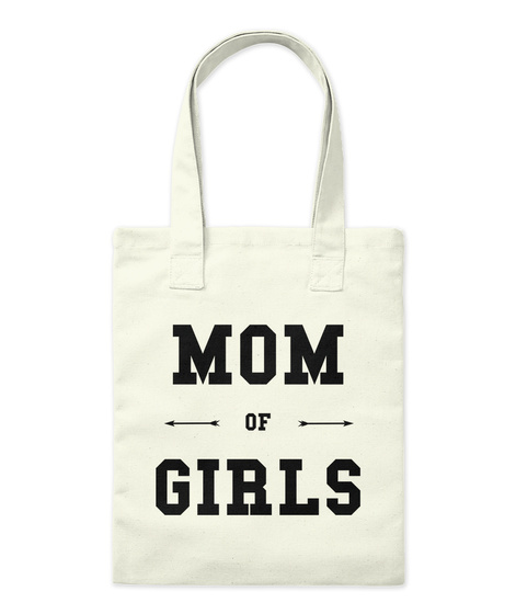 Mom Of Girls Natural Jute-Beutel Front