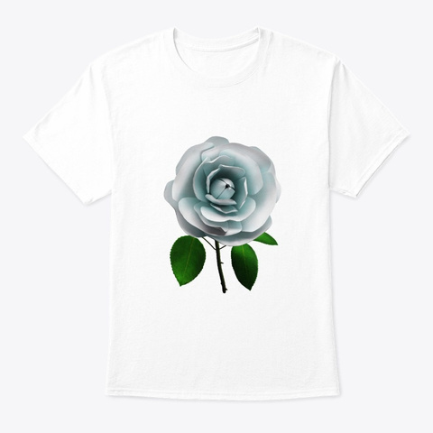 White Rose White T-Shirt Front